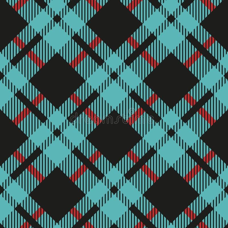 Light Blue and Black Buffalo Check Plaid Seamless Pattern - Classic style light blue and black buffalo check flannel plaid seamles. S pattern eps10 royalty free illustration
