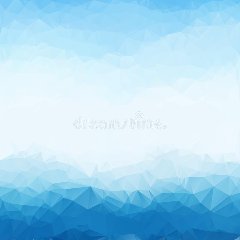 Light blue bright triangle polygon background frame. Abstract Geometrical Backdrop. Geometric design for business royalty free illustration