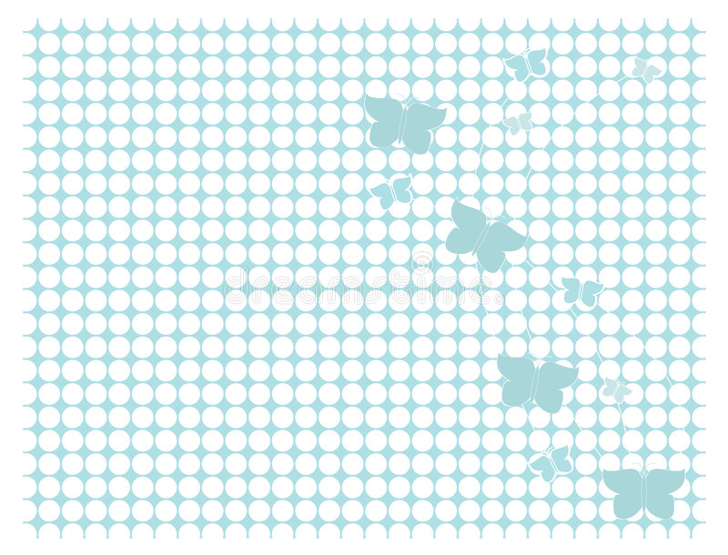 Light blue butterfly backgroun royalty free illustration