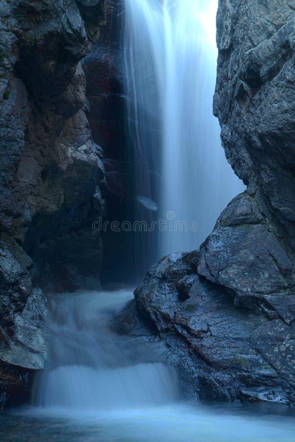 Download Light blue cascade stock image. Image of rocky, blue - 21672617
