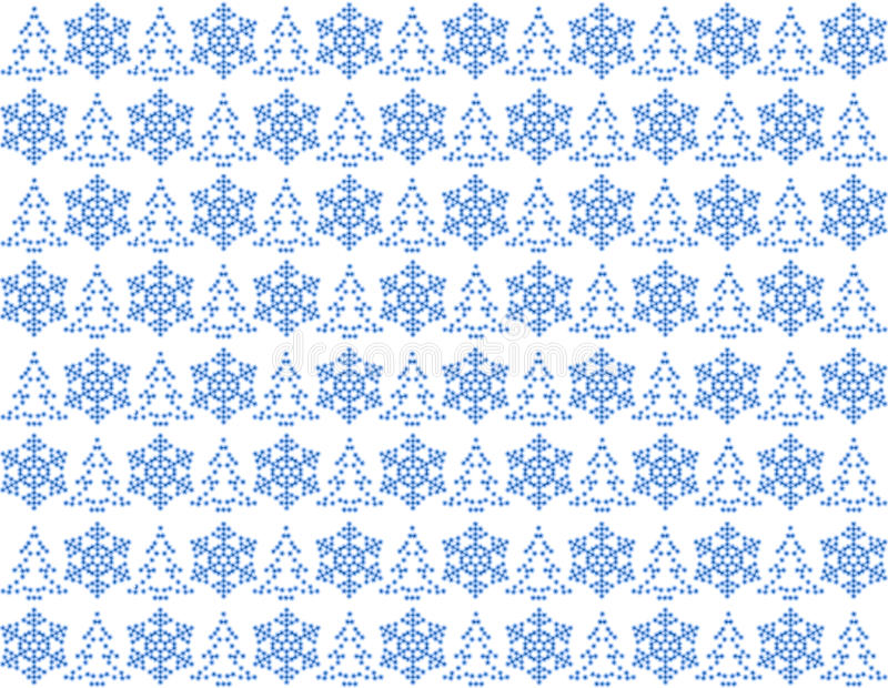 Light blue christmas pattern stock illustration