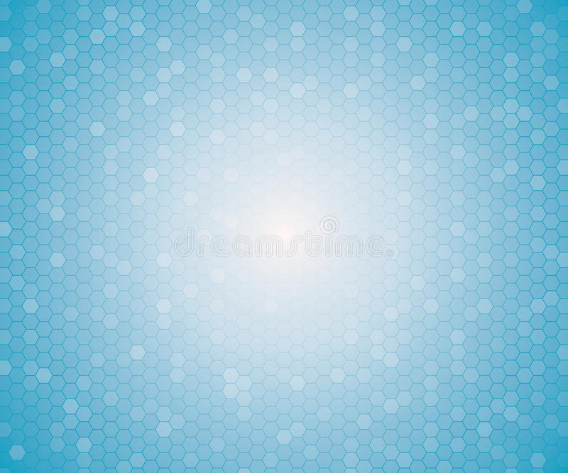 Light blue color geometric hexagon seamless pattern. stock illustration