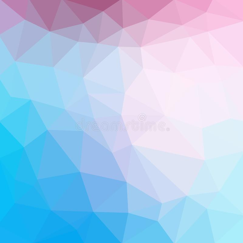 Free Light Blue Cool Vector Low Poly Crystal Background. Polygon Design Royalty Free Stock Image - 151461126