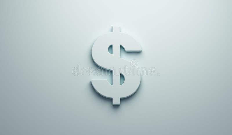 Dollar Sign - Business and Finance . 3D Render Illustration vector illustration