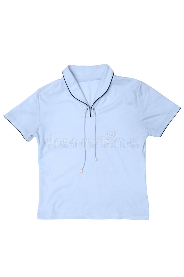 Download Light blue female T-shirt stock image. Image of clipping - 986933