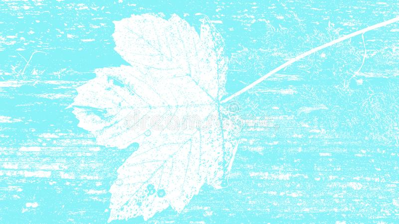 Light blue floral nature leaf surface natural silhouette grunge texture background design template for web and print royalty free illustration