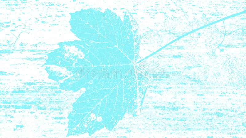 Light blue floral nature leaf surface natural silhouette grunge texture background design template for web and print vector illustration