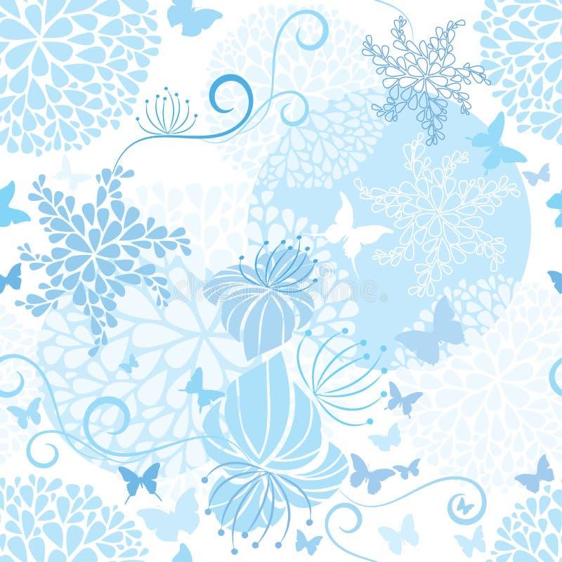 Light Blue floral seamless pattern vector illustration