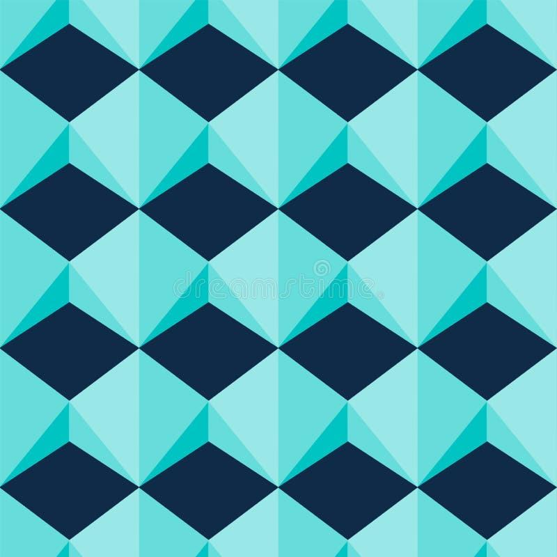 Light Blue Geometric Jewel Shapes Seamless Pattern vector illustration Bacgkround royalty free illustration