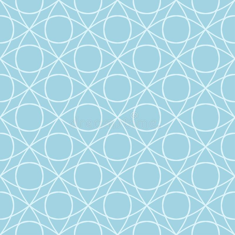 Light blue geometric ornament. Seamless pattern royalty free illustration