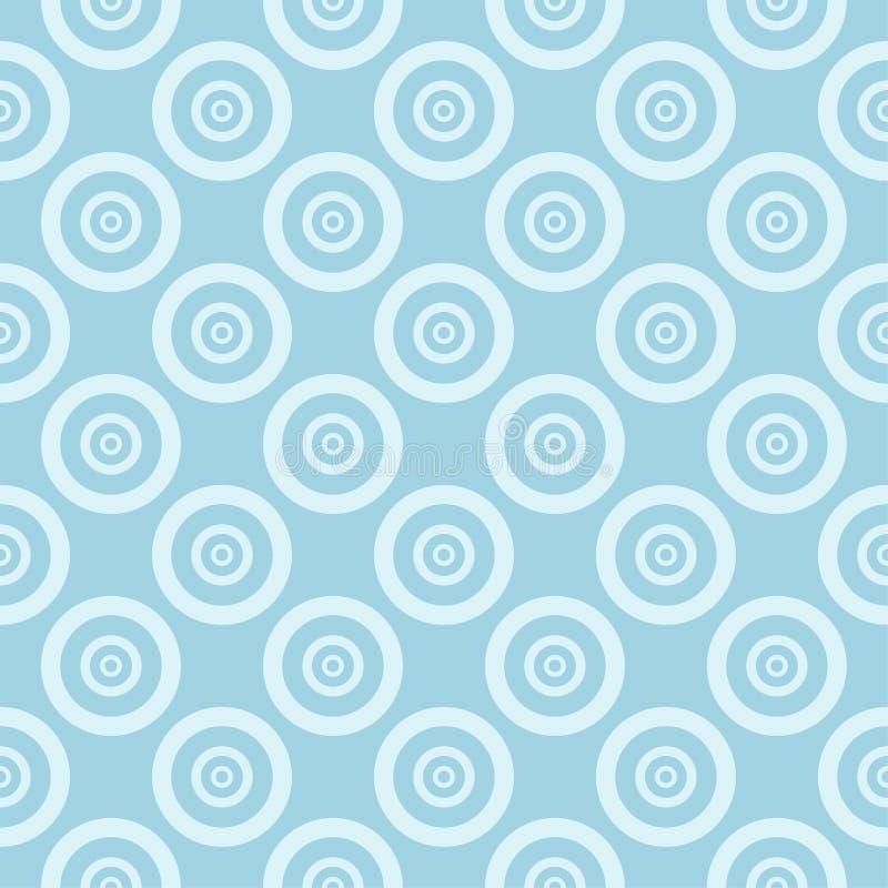 Light blue geometric ornament. Seamless pattern stock illustration