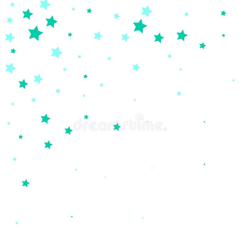 Light blue, green vector cover with beautiful stars. Shining colorful illustration with snow in a christmas style. Pattern for. Fabric design, wallpaper. starry vector illustration