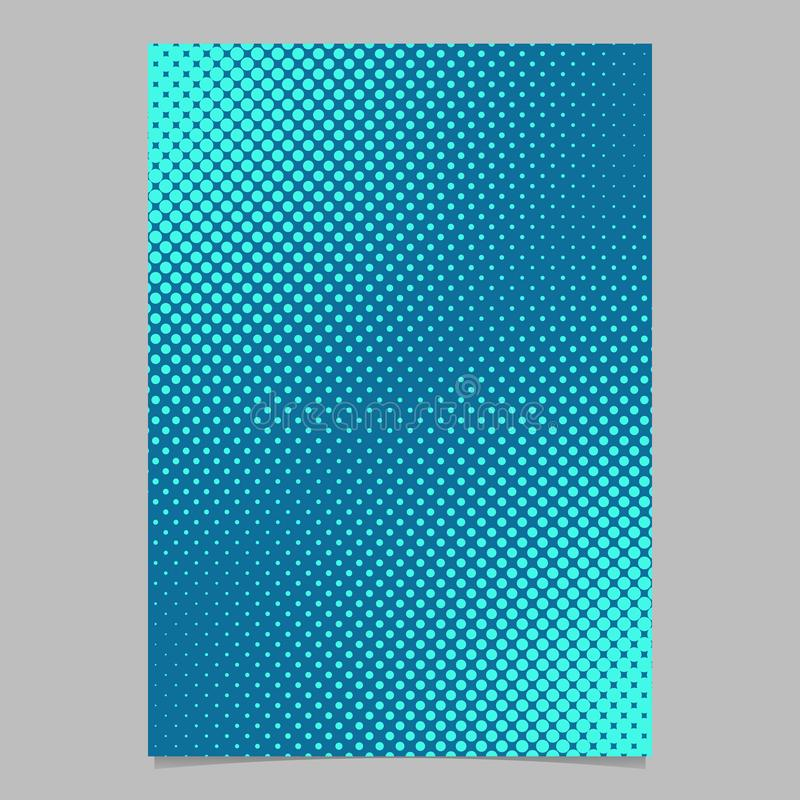 Light blue halftone dot pattern page template - vector brochure background graphic vector illustration