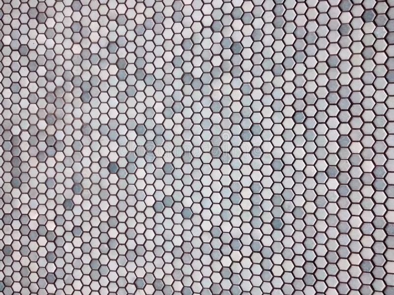 Light blue hexagon pattern royalty free stock image