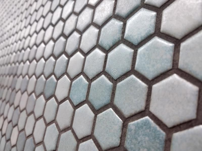 Light blue hexagon pattern. Light blue hexagon honey comb pattern background texture royalty free stock images