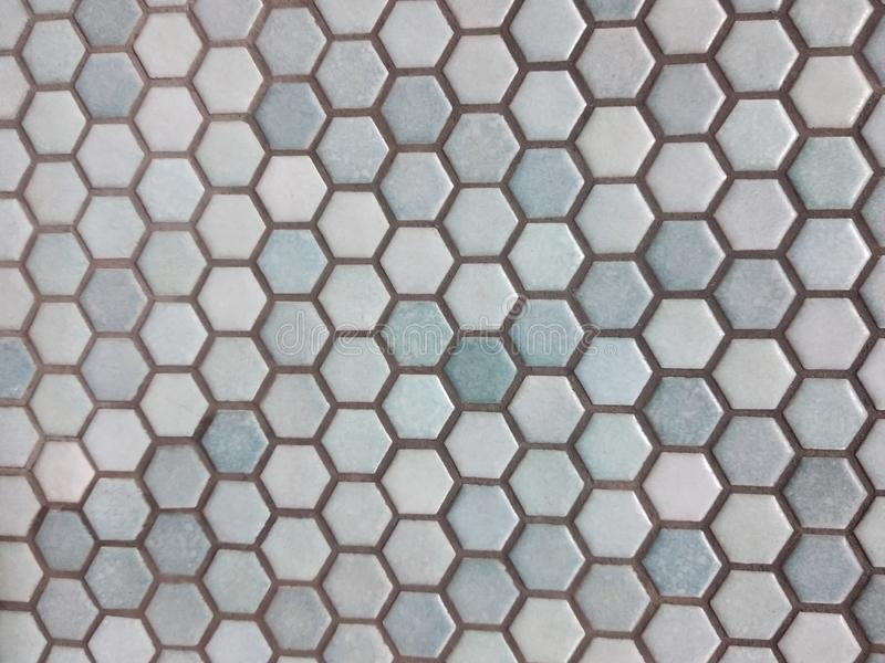 Light blue hexagon pattern royalty free stock photography
