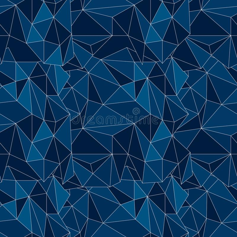 Light BLUE Pattern. Seamless triangular template. Geometric sample. Repeating routine with triangle shapes. Seamless texture for vector illustration