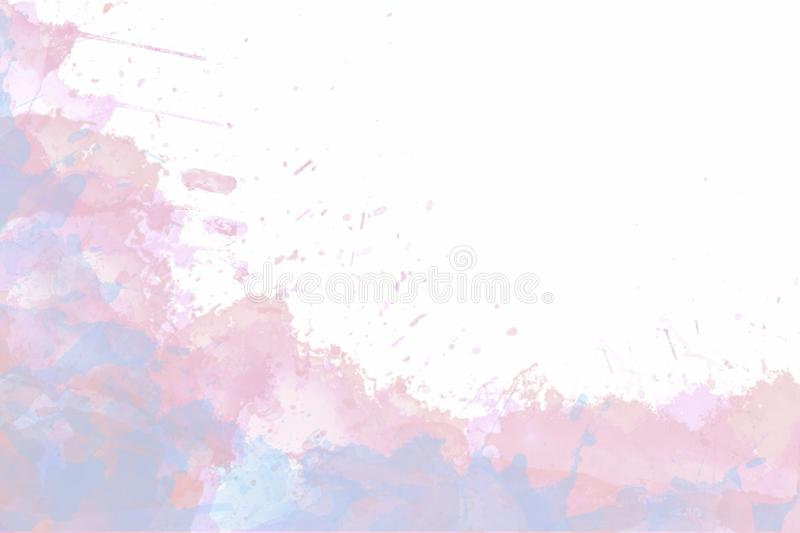 Light blue and  pink watercolor background stock illustration