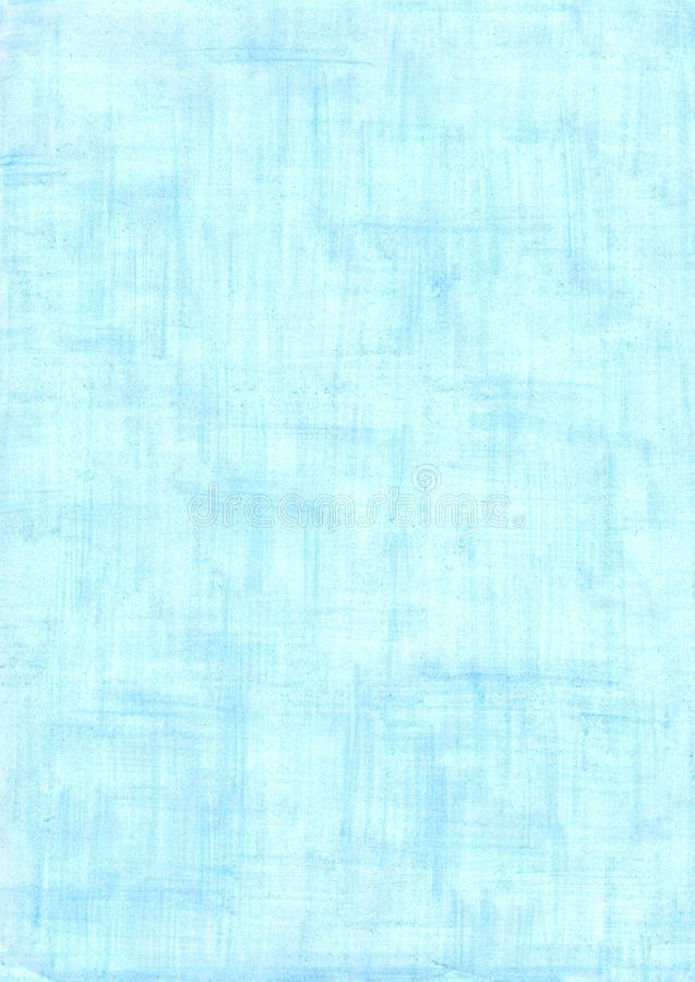 Light blue rectangle sheet of paper colored with pencil royalty free stock image
