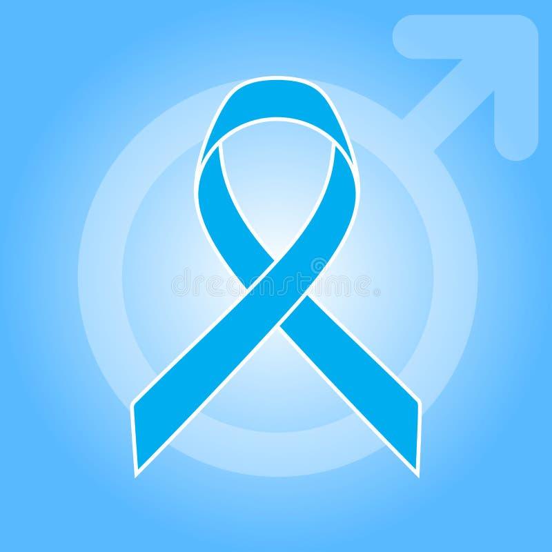 Light Blue Ribbon As Symbol Of Prostate Cancer Awareness Stock