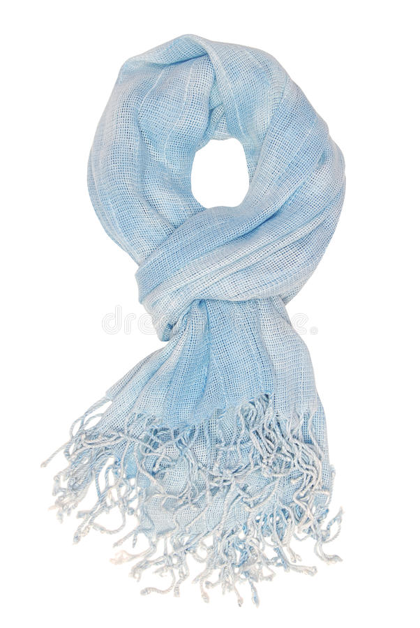 It is a light blue scarf.