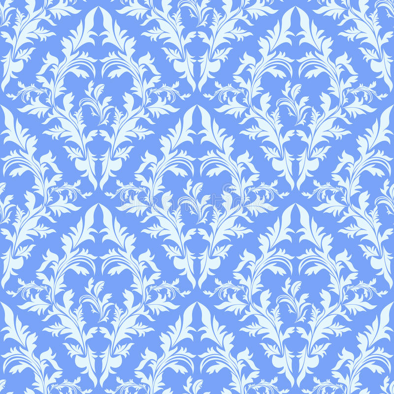 Light blue seamless damask wallpaper stock vector - Light blue linen wallpaper ...