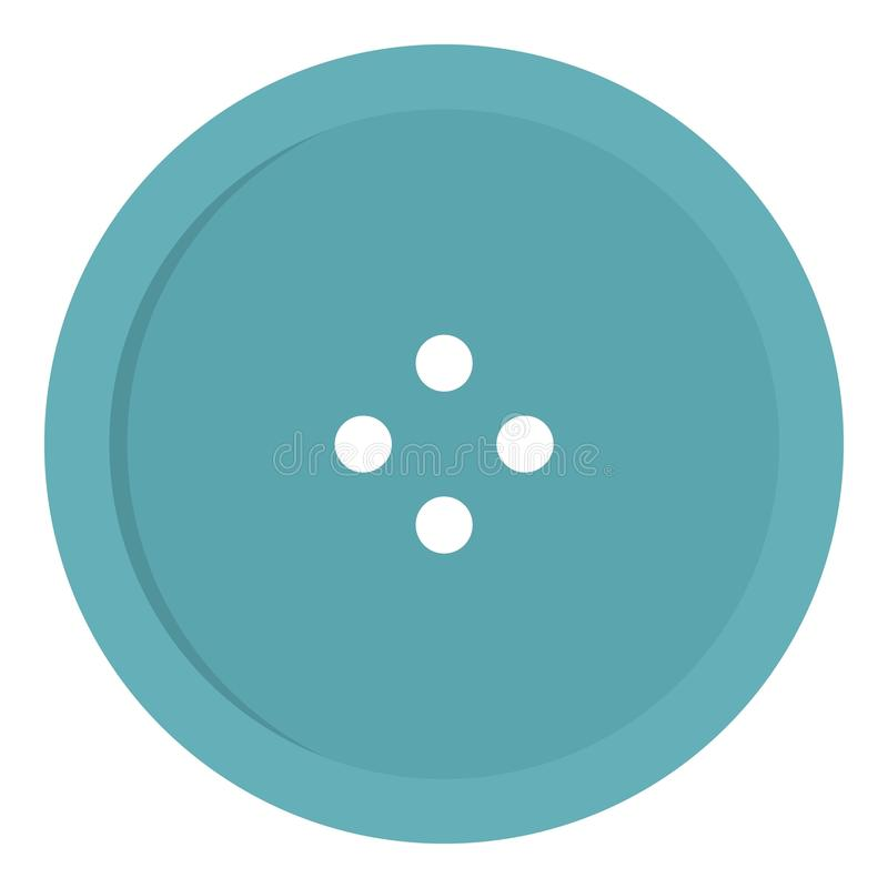 Light blue sewing button icon stock illustration