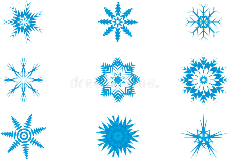 Download Light Blue Snow flake stock illustration. Illustration of light - 22298657