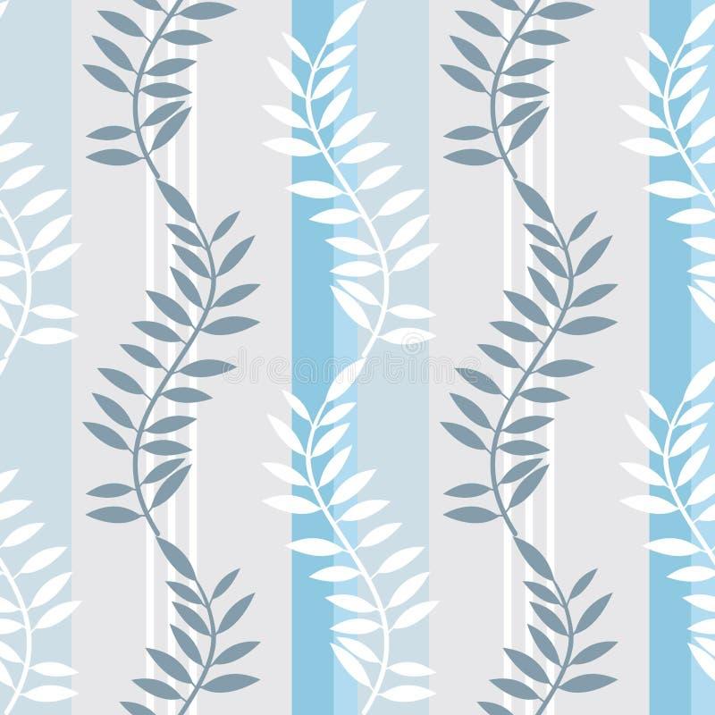 Light blue striped foral pattern