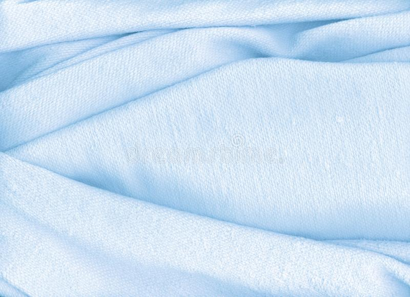 Light blue towel royalty free stock photo