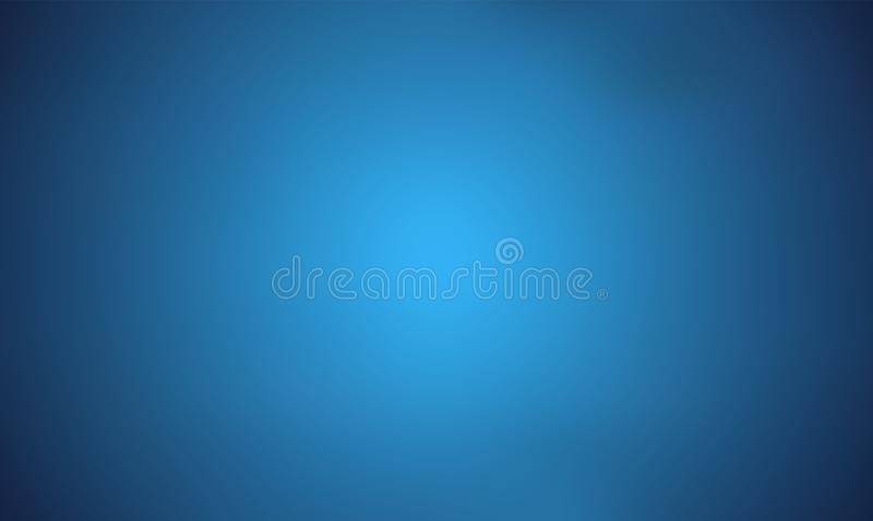 Light Blue Trendy Wide Screen Gradient Background. Defocused Soft Blurred Backdrop royalty free illustration