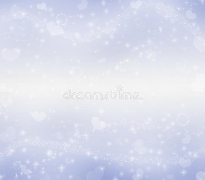 Light blue Valentine`s Day magic background. royalty free stock photography