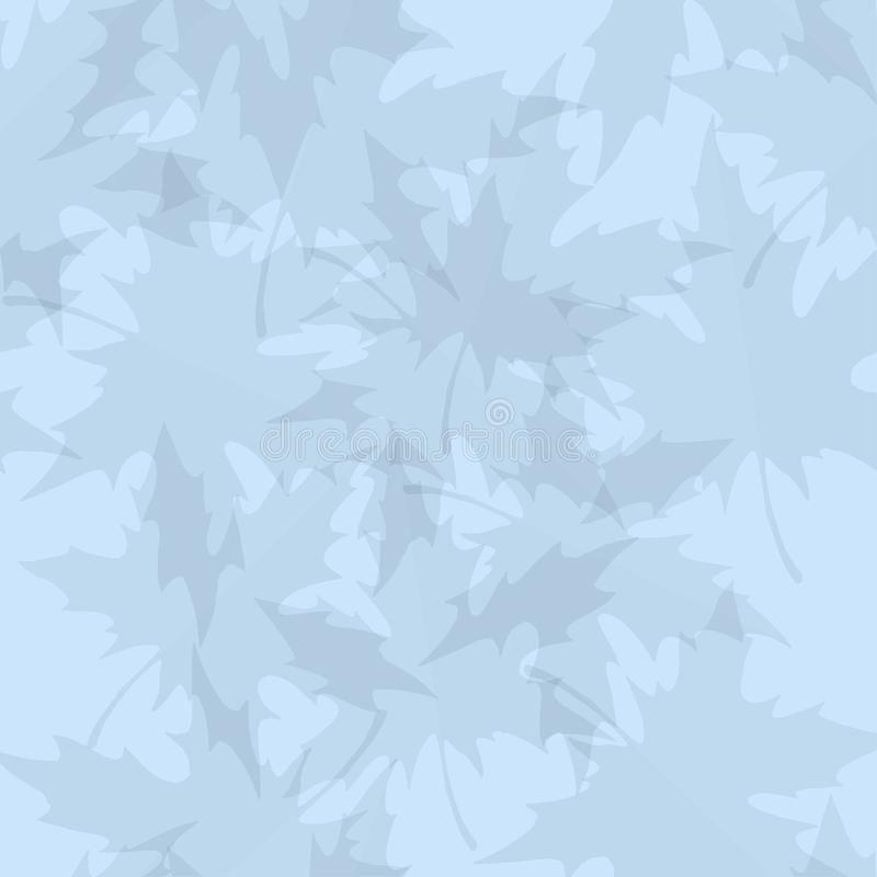 Light blue vector seamless pattern with maple leaves. Autumn backdrop for any design. royalty free illustration