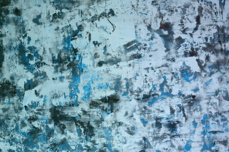 Light blue very much messy table plaster texture - cute abstract photo background. Wonderful light blue very much shabby plank paint texture - abstract photo stock image