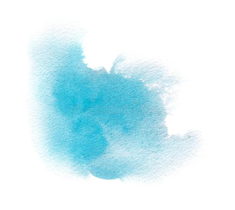 Free Light Blue Watercolor Texture Stain With Water Color Wash, Brush Strokes Stock Image - 194112871