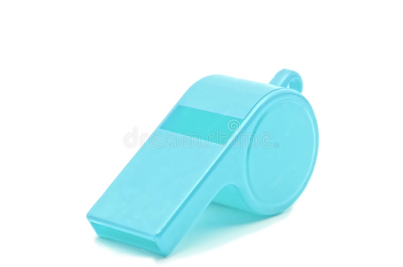 Light Blue Whistle stock photography