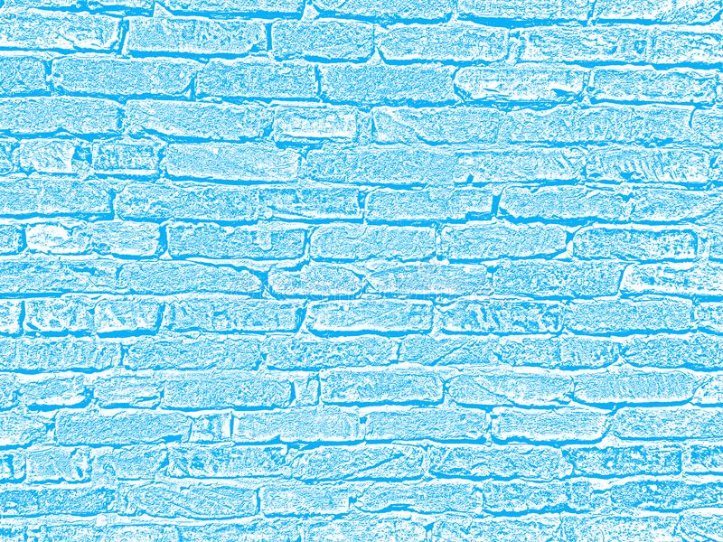 Light blue and white brick wall concrete structure cement surface grunge texture decorative background for web and print royalty free stock image
