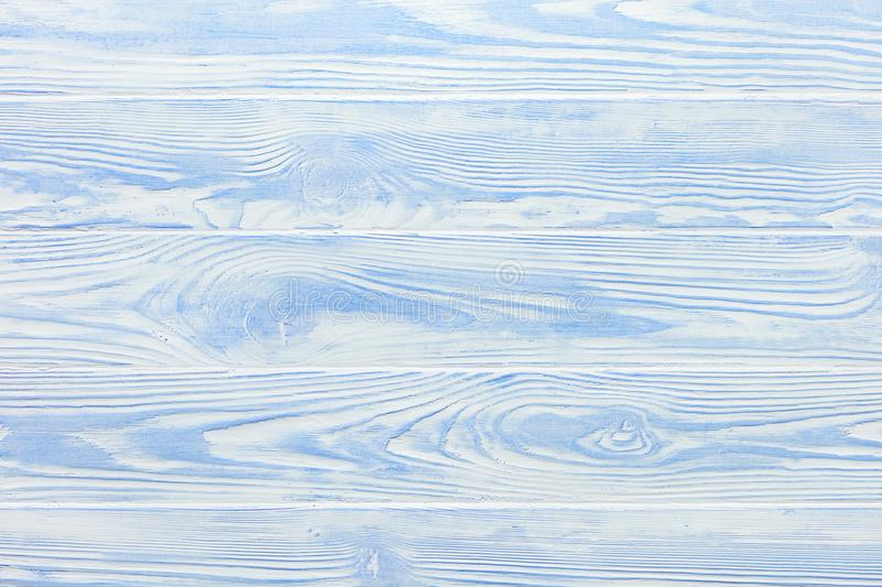 Light blue and white texture of shabby wooden countertop. royalty free stock photos