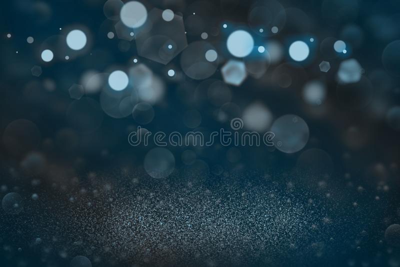 Light blue wonderful brilliant glitter lights defocused bokeh abstract background, festive mockup texture with blank space for. Light blue wonderful shiny stock photography