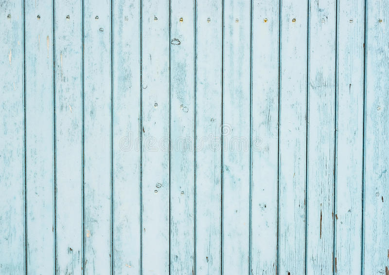 Light Blue Wood Wall stock image