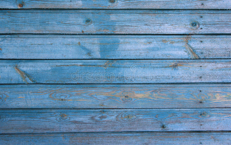 Light Blue Wooden House Wall With Peeling Paint Texture