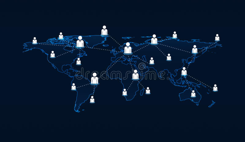 Light blue world map connection with businessman icon on blue ba download light blue world map connection with businessman icon on blue ba stock photo image gumiabroncs Images