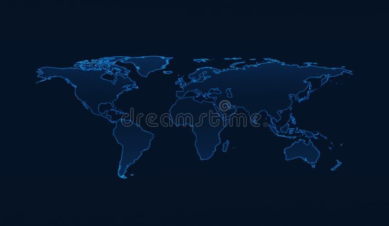 Light blue world map on dark blue background elements of this i download light blue world map on dark blue background elements of this i stock image gumiabroncs Choice Image