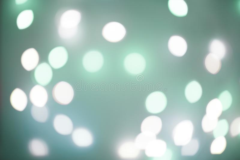 Light bokeh background. Fairy lights, city holiday concept royalty free stock photo