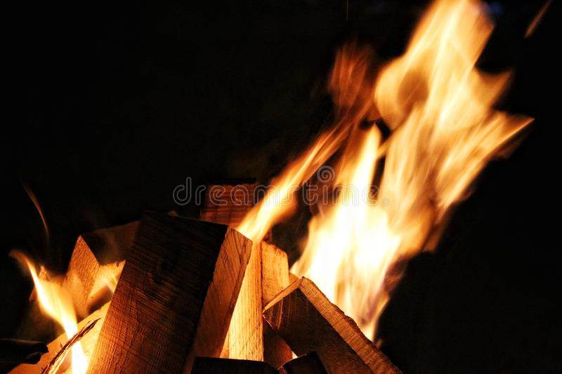 Light bonfire stock photos
