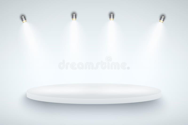 White Presentation platform royalty free illustration
