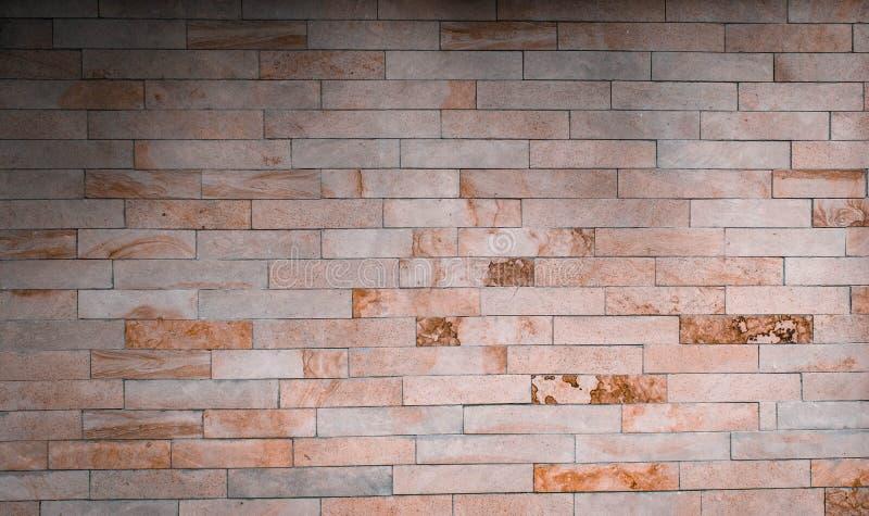 Light brick wall texture. Background brick with imitation of marble stock photo