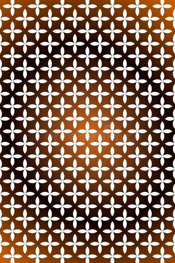 Light brown and dark brown mustard flower star template phone wallpaper vector illustration