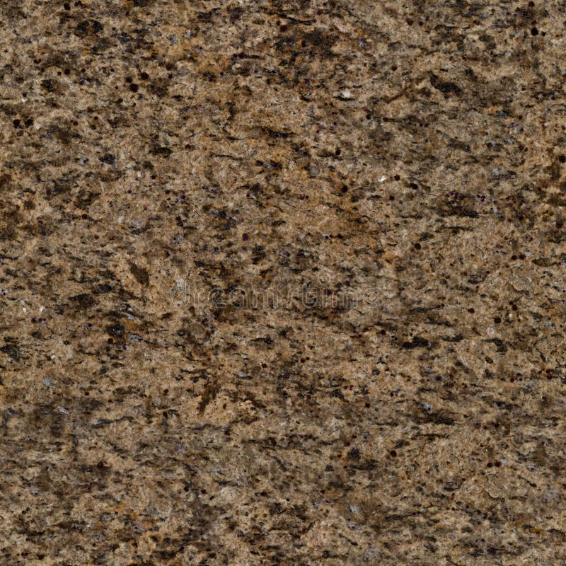 Light brown granite texture with black dots. Seamless square background, tile ready. High resolution photo stock image