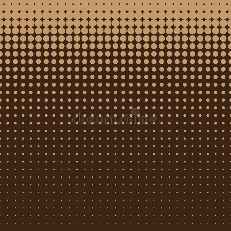 Light brown halftone dots seamless pattern on brown background, use for wallpaper, pattern, web page background, textures stock illustration